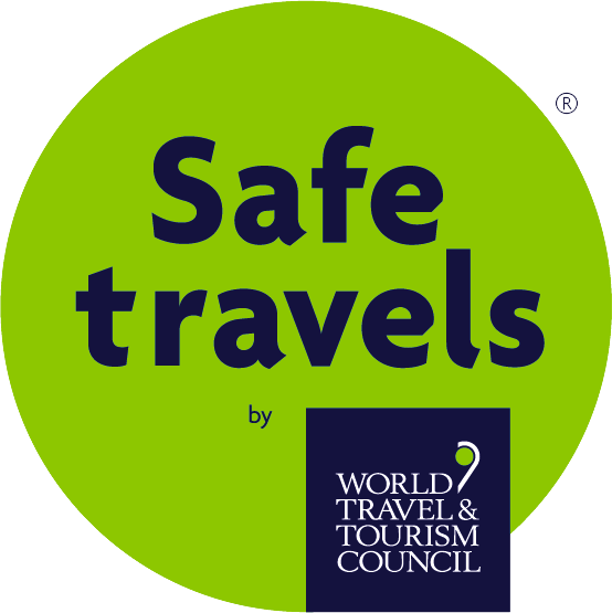 WTTC COVID-19 Safe Travels badge.